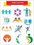 People Logo pack Royalty Free Stock Photography