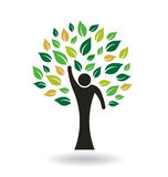 People Logo Tree Graphic Royalty Free Stock Images