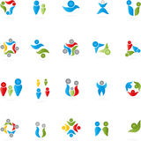 People, logos, collection, logos Royalty Free Stock Image
