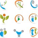 People, logos, collection, logos Stock Photo