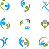 People, logos, collection, logos Stock Image