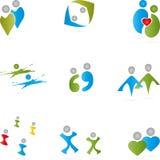 People, logos, collection, logos Royalty Free Stock Photos