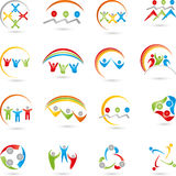 People, logos, collection, team Stock Photography