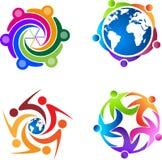 People logos Royalty Free Stock Photos