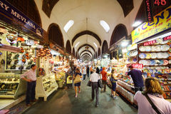 People look at goods in Egyptian Bazaar Stock Image