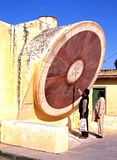 People looking at the gian sundial, Jaipur. Royalty Free Stock Image
