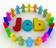 People looking for job . Career opportunity concept Royalty Free Stock Photography