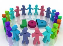 People looking for job . Career opportunity concept Royalty Free Stock Images