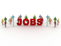 People looking for job Stock Photo