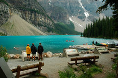 People looking at Lake Louise Royalty Free Stock Photo