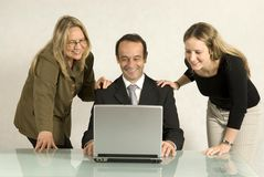 People Looking at Laptop Royalty Free Stock Photo