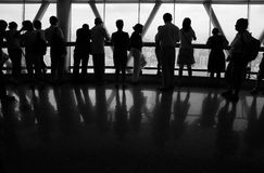 People looking outside Royalty Free Stock Photo