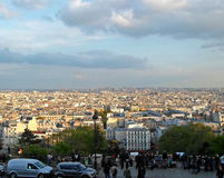 People looking at Paris Royalty Free Stock Photo