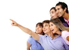 People looking at something Royalty Free Stock Photos