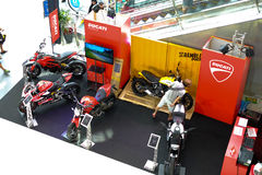 People Looking To Buy Bike In Big Bike Show At Terminal 21 Shopping Mall Stock Image