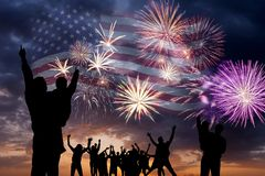 Fireworks on independence day royalty free stock photos