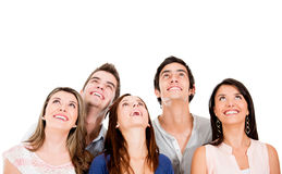 People loooking up Stock Photos