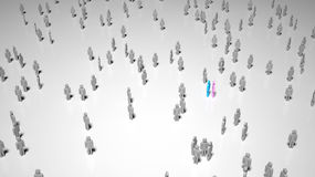 People Lost in a Crowd Stock Image