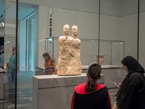 People in the Louvre Museum in Abu Dhabi royalty free stock image