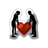 People in love couple icon Royalty Free Stock Photos