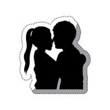 People in love couple icon Stock Image