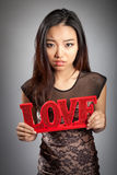 People in love shot in studio Royalty Free Stock Images