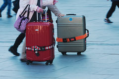 People with luggage Stock Photos