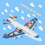 Travelling People Isometric Concept Royalty Free Stock Photo
