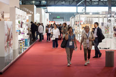 People at Macef home show in Milan Royalty Free Stock Photography