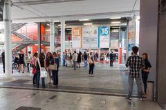 People at Macef home show in Milan Stock Photography
