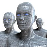 People machine - artificial intelligence. Royalty Free Stock Photography
