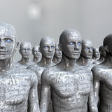 People machine - artificial intelligence. Stock Photography