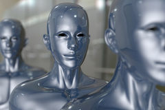 People machine - artificial intelligence. Royalty Free Stock Images