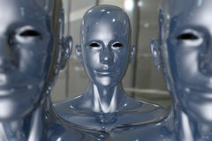 People machine - artificial intelligence. Royalty Free Stock Photo