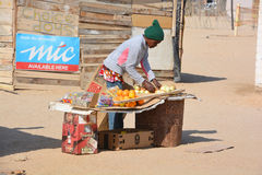 People made affair. SWAKOPMUND, NAMIBIA OCTOBER 09, 2014: People made affair in the Mondesa slum of Swakopmund on october 09 2014. In Namibia About 27.6 per cent stock photo