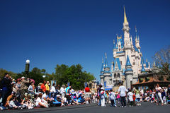 People at at Magic Kingdom  castle of Disney world Stock Photography