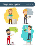 People make repairs Stock Photo