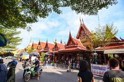 People are making merit for the king on father& x27;s day. Make merit at wat thep lee Stock Images