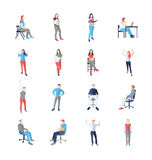 People, male, female, in different casual common poses Stock Photo