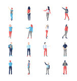 People, Male, Female, In Different Showing And Browsing Poses Stock Photos