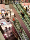 People in the mall. People in the multilevel mall, motion blurred Stock Photography