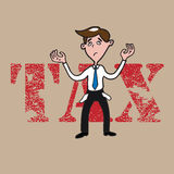 People man bankrupt by tax Royalty Free Stock Photography