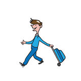 People man carrying luggage Stock Photography