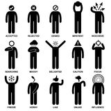 People Man Emotion Feeling Action Pictogram. A set of pictogram representing the characteristic, behaviour, mind, attitude, identity, and personalities of a Royalty Free Stock Image