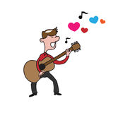 People man guitar love song Royalty Free Stock Image