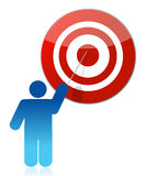 People - man, person pointing a target Royalty Free Stock Photo