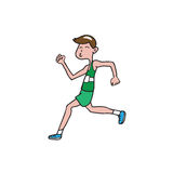People man running. People man sport running cartoon Royalty Free Stock Images