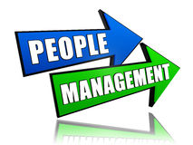 People management in arrows Royalty Free Stock Image