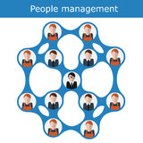 People management concept vector illustration. Office hierarchy, human resources, business team Royalty Free Stock Photo