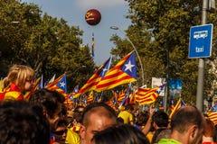 People manifesting independence for Calatonia Stock Photos